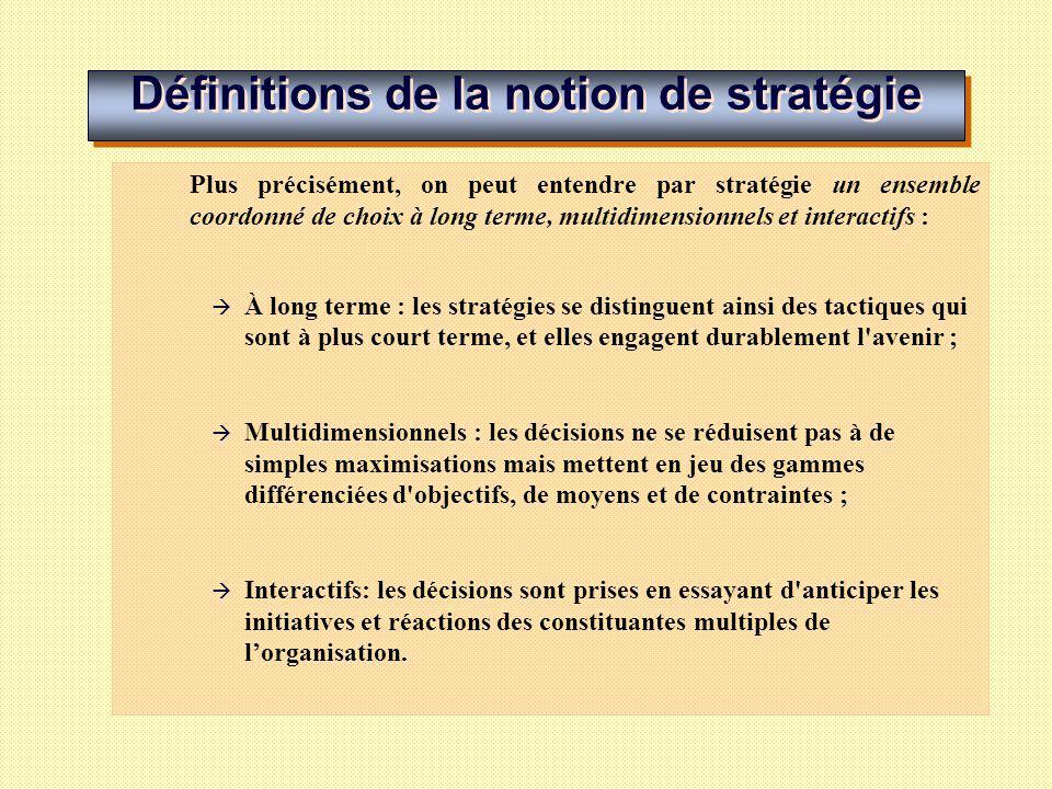 Stratégie et management LES DÉTERMINANTS DE LA STRATÉGIE EN MANAGEMENT LE PROCESSUS STRATÉGIQUE EN MANAGEMENT LES TYPOLOGIES STRATÉGIQUES EN MANAGEMENT