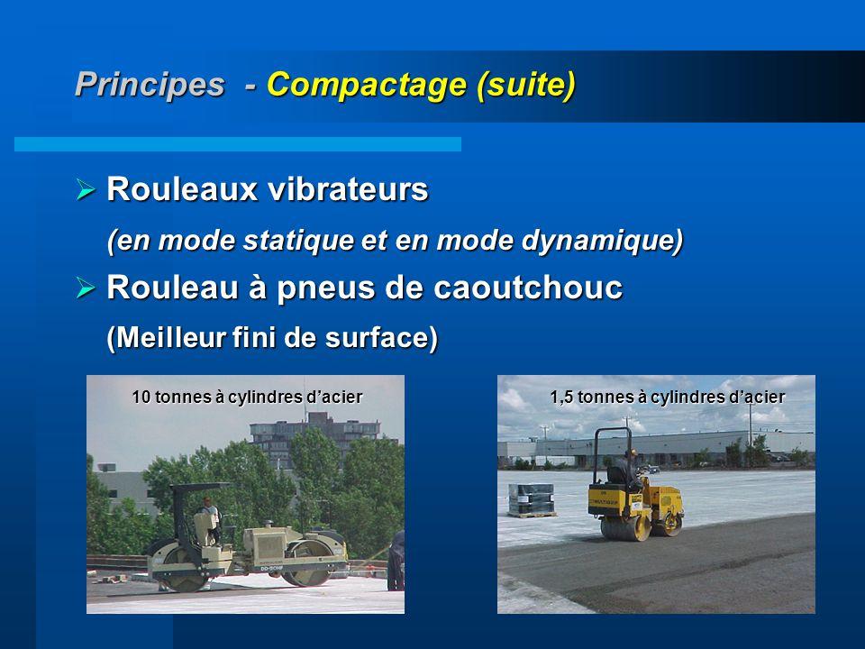 36 Principes - Compactage (suite) Rouleaux vibrateurs Rouleaux vibrateurs (en mode statique et en mode dynamique) (en mode statique et en mode dynamiq