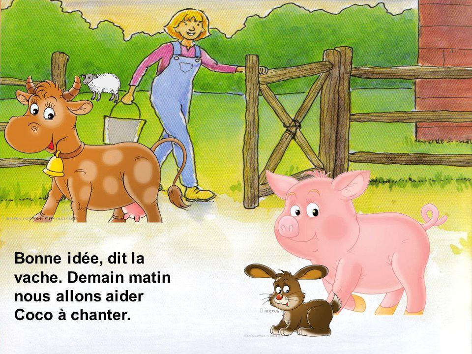 Cest simple, dit le cochon, je crois que Coco a de la difficulté à chanter, car il a trop de pression.