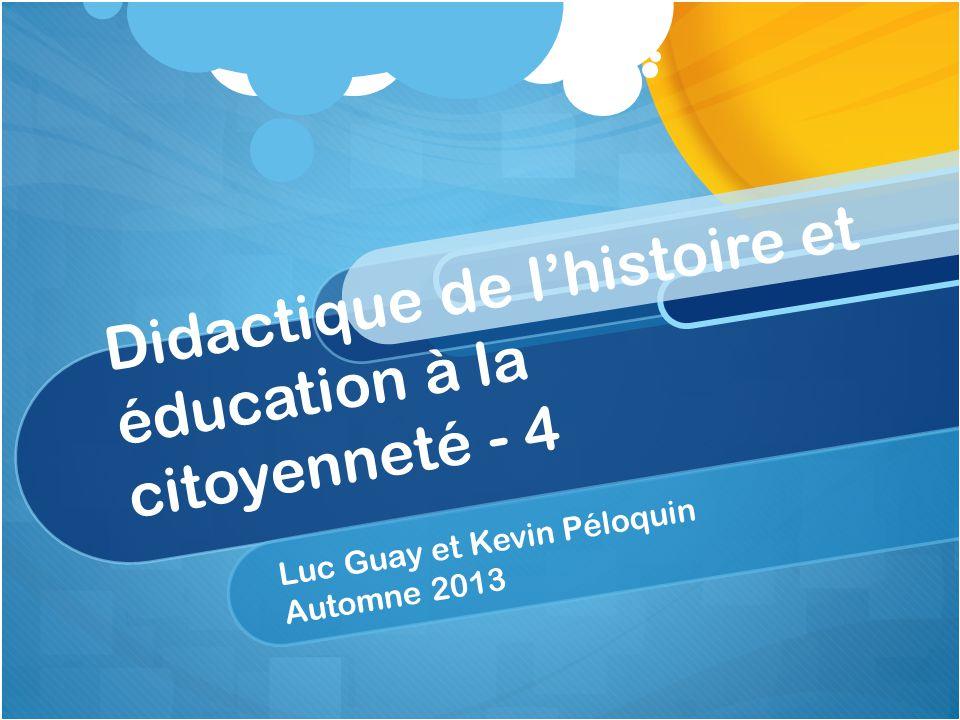 Progression des apprentissages en histoire et éducation à la citoyenneté (3 e secondaire) 2.4.