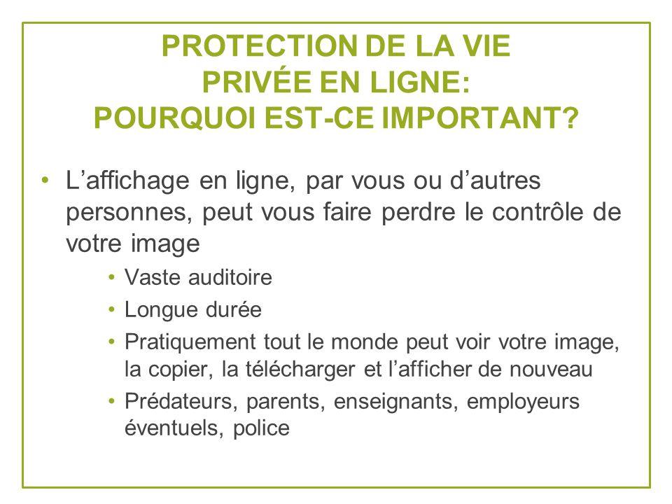 PROTECTION DE LA VIE PRIVÉE EN LIGNE: POURQUOI EST-CE IMPORTANT.