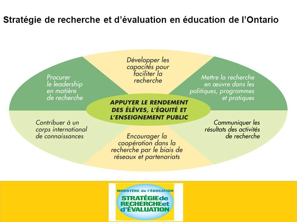 Stratégie de recherche et dévaluation en éducation de lOntario