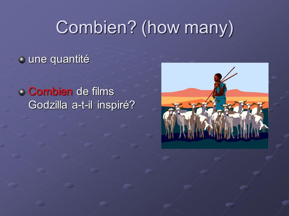 Combien? (how many) une quantité Combien de films Godzilla a-t-il inspiré?