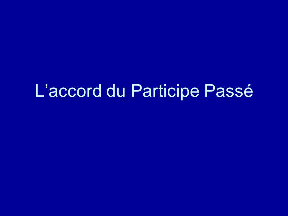 Laccord du Participe Passé