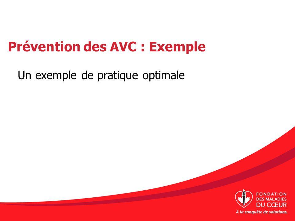 Prévention des AVC : Exemple Un exemple de pratique optimale