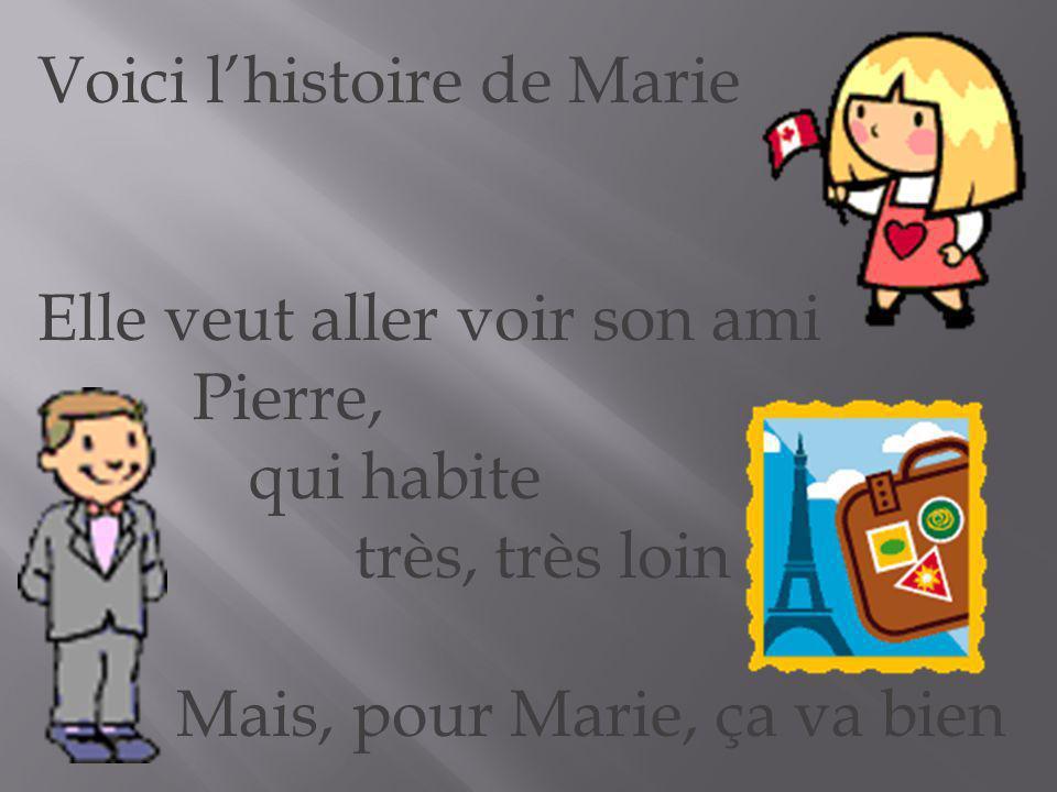 Voici lhistoire de Marie Elle veut aller voir son ami Pierre, qui habite très, très loin Mais, pour Marie, ça va bien