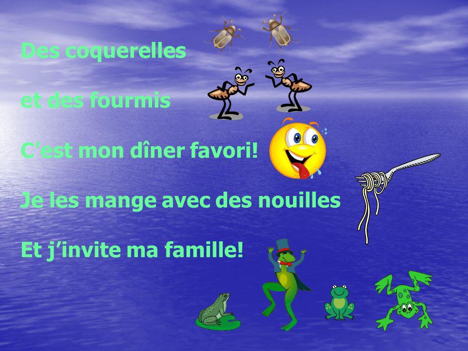 Le boogie des grenouilles Cest très beau Le boogie des grenouilles On nage dans leau Le boogie des grenouilles On saute dans lair