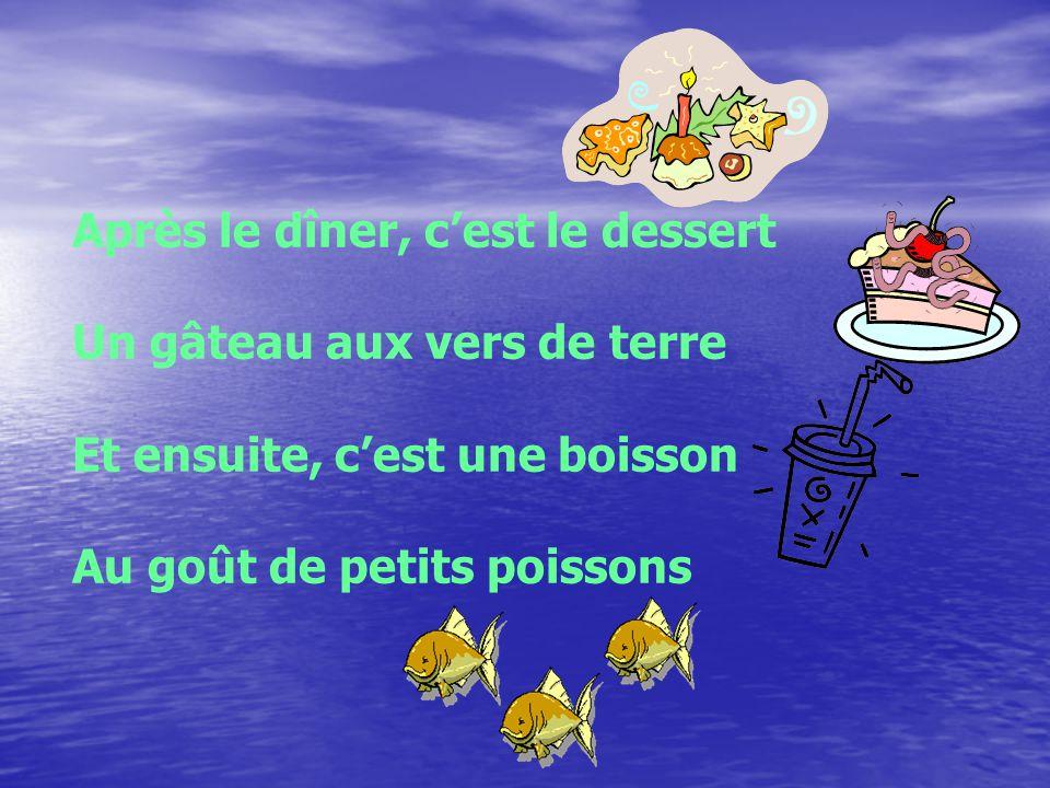 Après le repas On saute dans létang Où on nage et chante des chansons Toute la soirée on joue dans la boue Le boogie des grenouilles Cest vraiment fou!