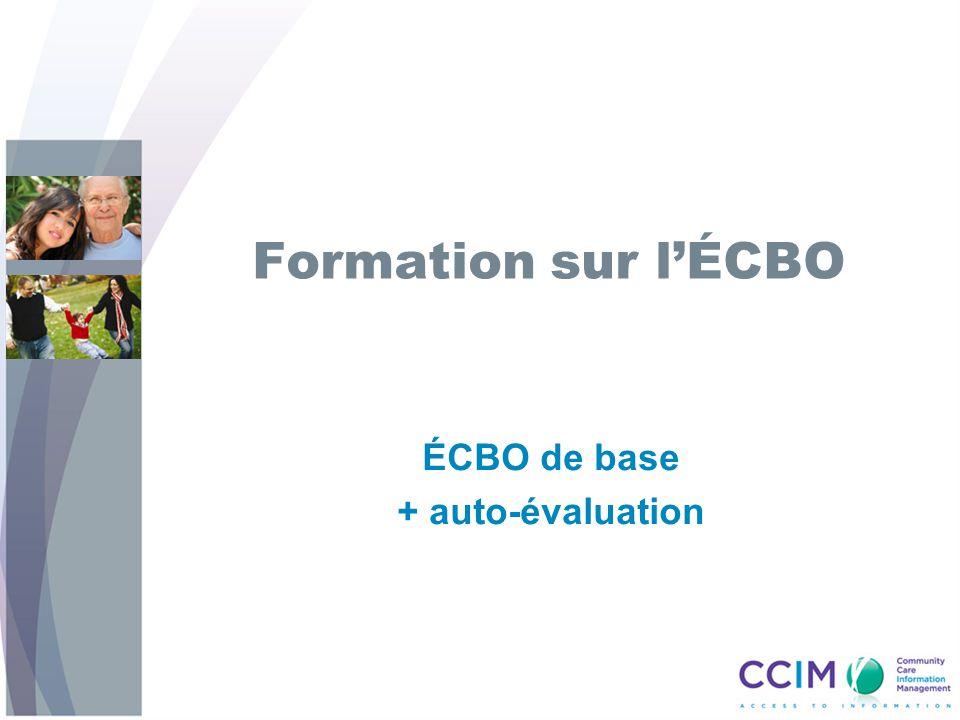 Formation sur lÉCBO ÉCBO de base + auto-évaluation