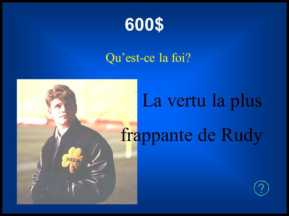 400$ Quelle est luniversité de Notre Dame Luniversité de Rudy Ruettiger