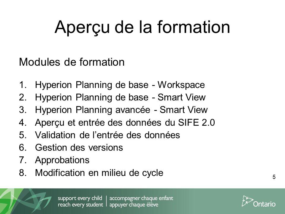 Aperçu de la formation Modules de formation 1.Hyperion Planning de base - Workspace 2.Hyperion Planning de base - Smart View 3.Hyperion Planning avanc