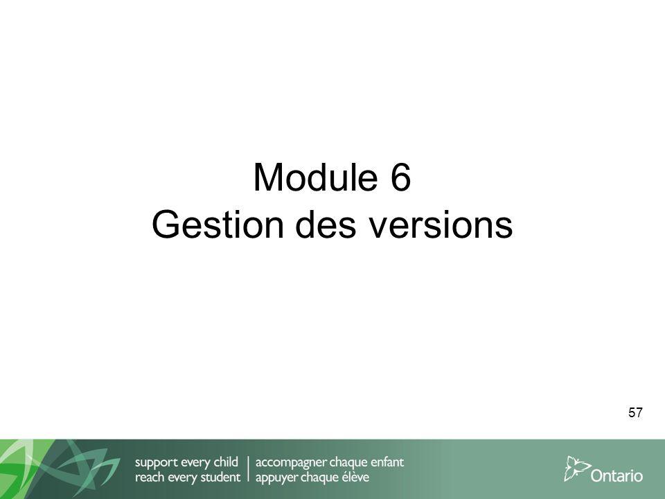 Module 6 Gestion des versions 57