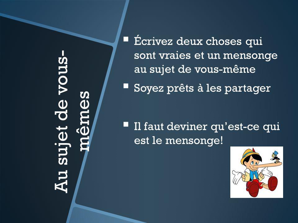 Votre formation Qui a influencé votre formation de la langue française?