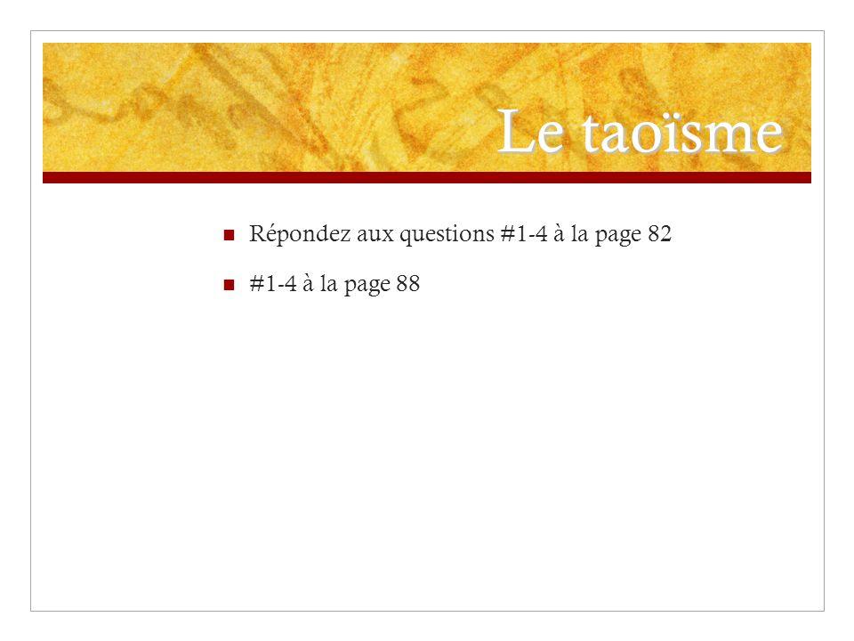 Le confucianisme Répondez aux questions #1-3 sur la page 92 #3-4 sur la page 95