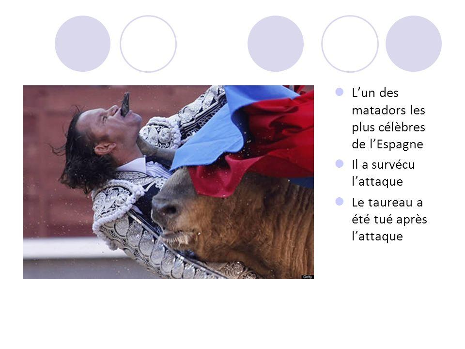Lun des matadors les plus célèbres de lEspagne Il a survécu lattaque Le taureau a été tué après lattaque