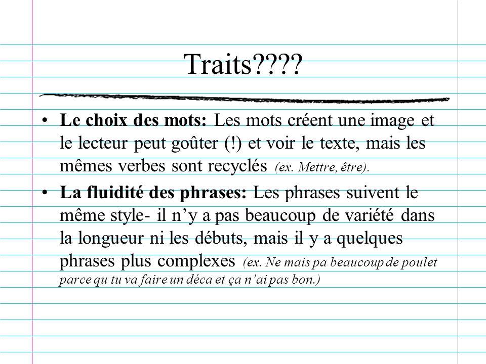 Traits???.