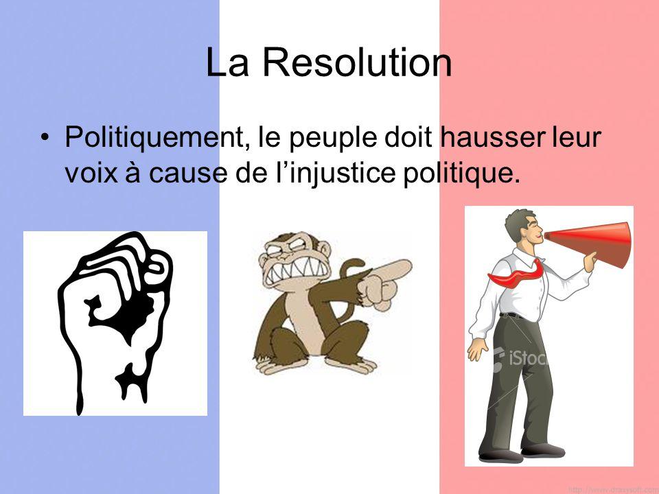 La Resolution Politiquement, le peuple doit hausser leur voix à cause de linjustice politique.