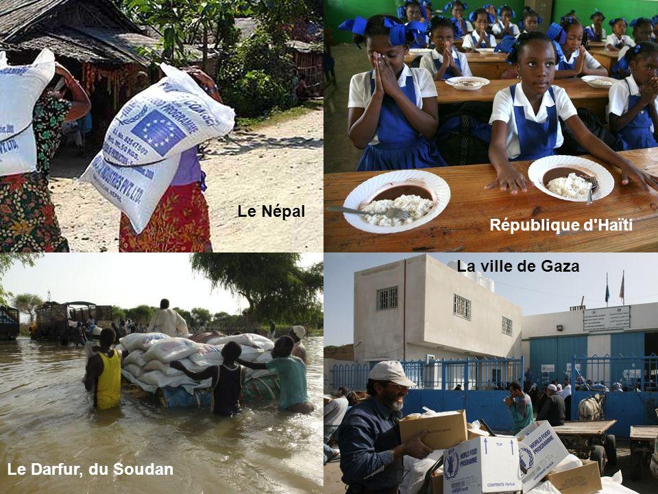 République d'Haïti Le Darfur, du Soudan La ville de Gaza Le Népal