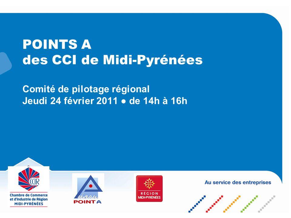 POINTS A des CCI de Midi-Pyrénées Comité de pilotage régional Jeudi 24 février 2011 de 14h à 16h