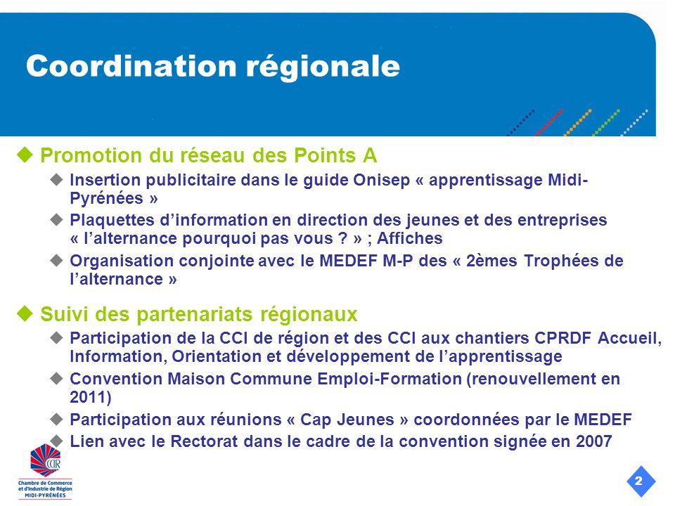 2 Promotion du réseau des Points A Insertion publicitaire dans le guide Onisep « apprentissage Midi- Pyrénées » Plaquettes dinformation en direction des jeunes et des entreprises « lalternance pourquoi pas vous .