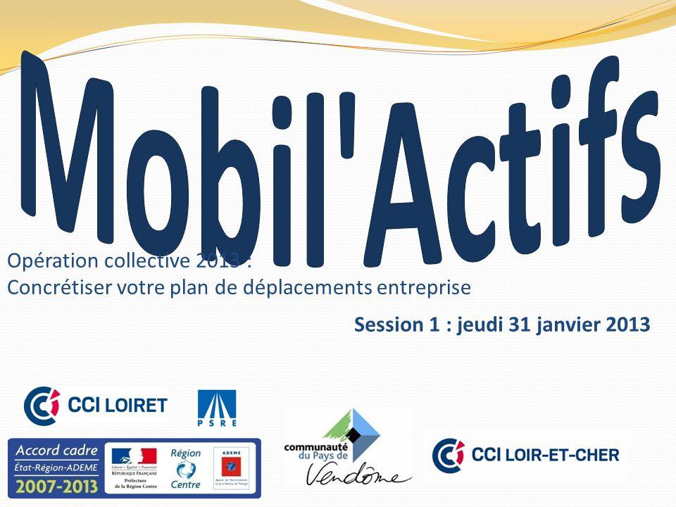 Opération collective 2013 : Concrétiser votre plan de déplacements entreprise Session 1 : jeudi 31 janvier 2013