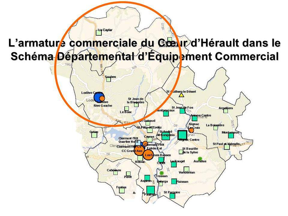 Larmature commerciale du Cœur dHérault dans le Schéma Départemental dÉquipement Commercial