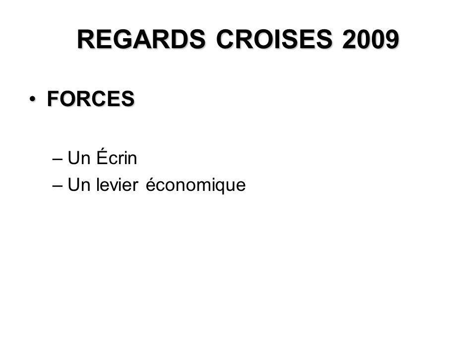 REGARDS CROISES 2009 FORCESFORCES –Un Écrin –Un levier économique