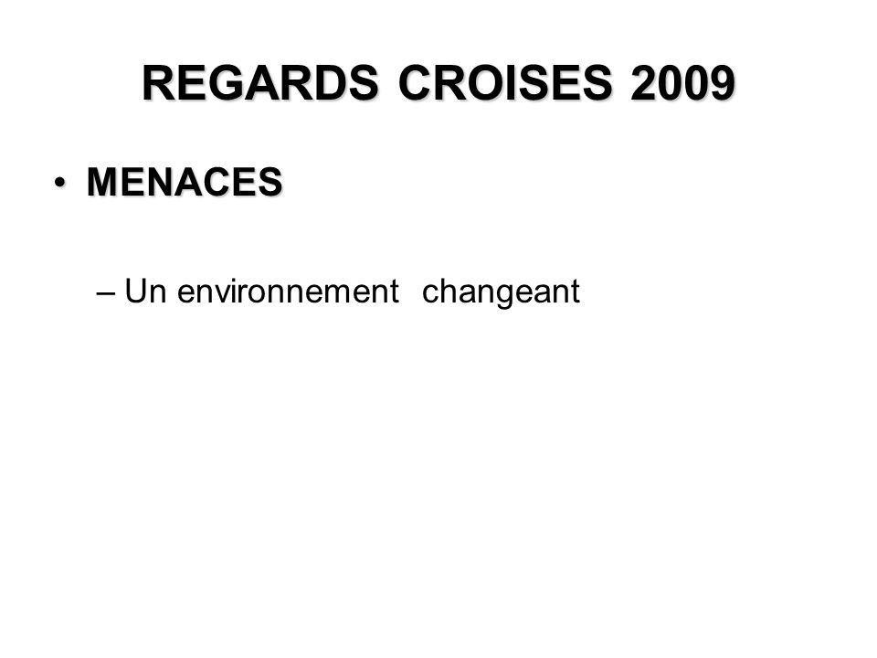 REGARDS CROISES 2009 MENACESMENACES –Un environnement changeant
