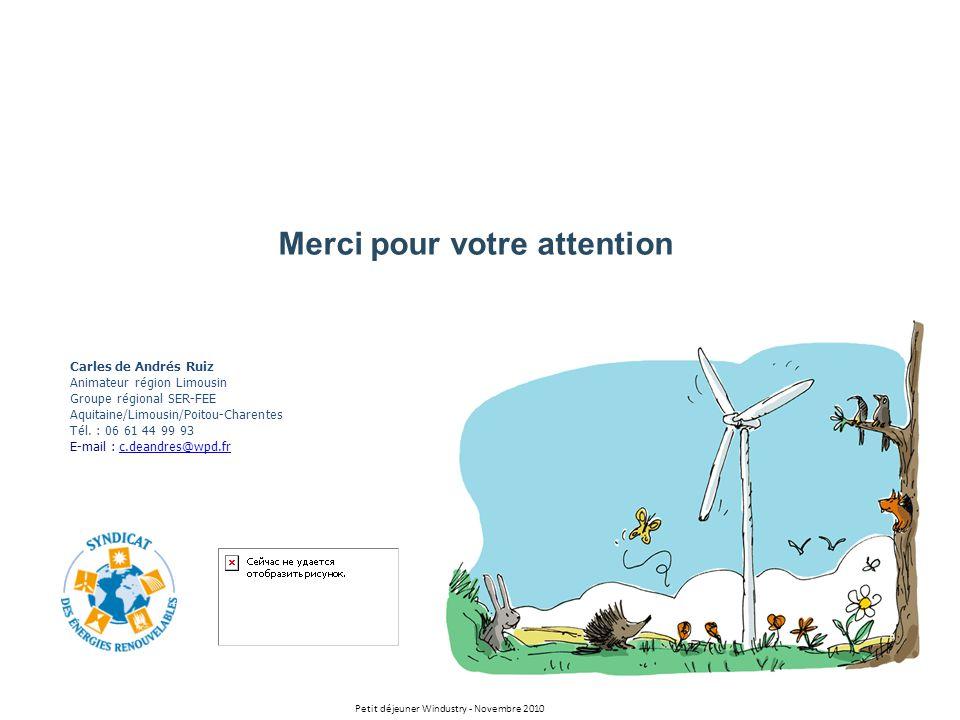 Merci pour votre attention Carles de Andrés Ruiz Animateur région Limousin Groupe régional SER-FEE Aquitaine/Limousin/Poitou-Charentes Tél. : 06 61 44