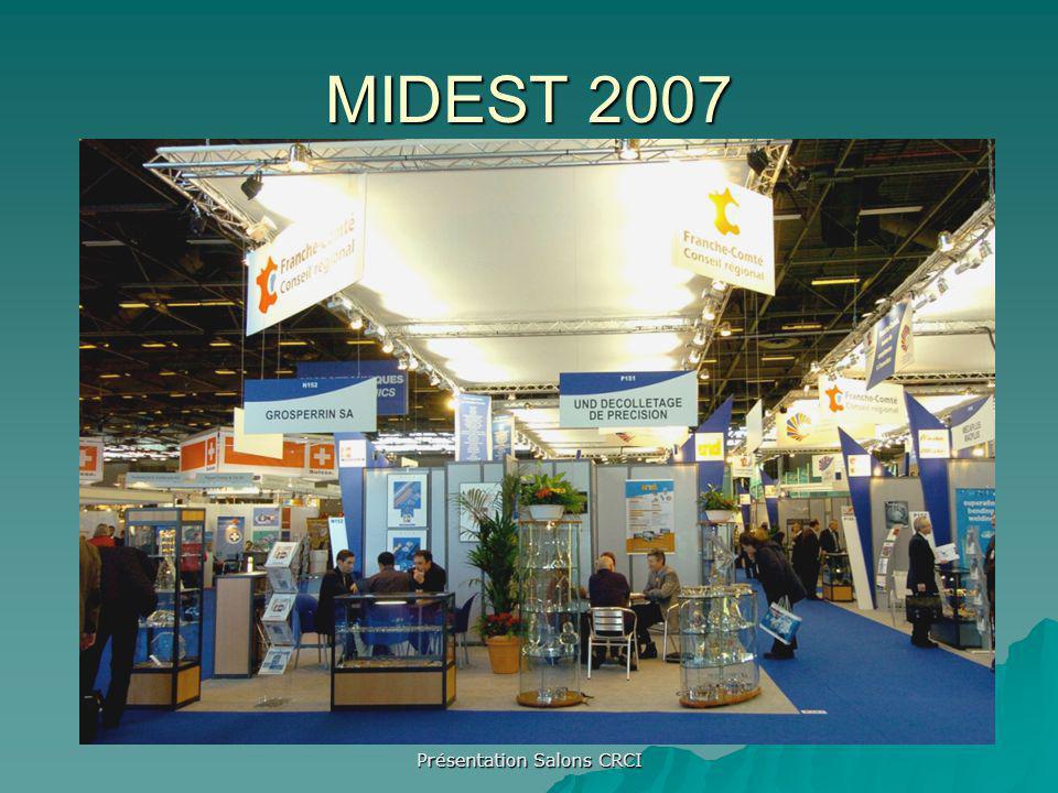 Présentation Salons CRCI MIDEST 2007