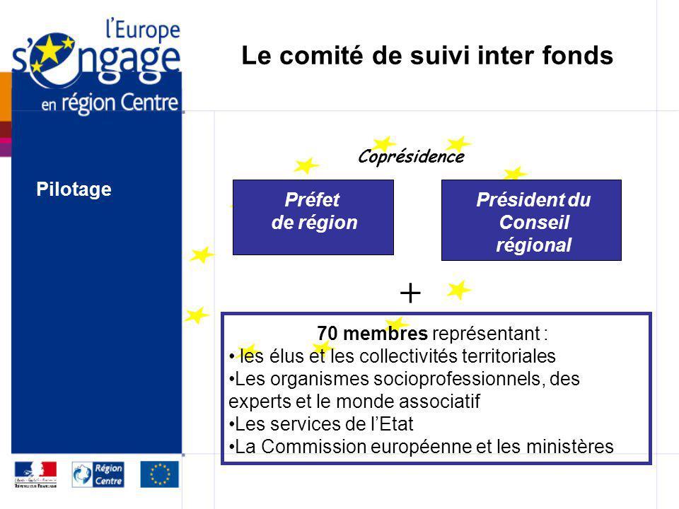 Les instances de pilotage des programmes Le comité de suivi inter fonds Le comité de programmation Pilotage
