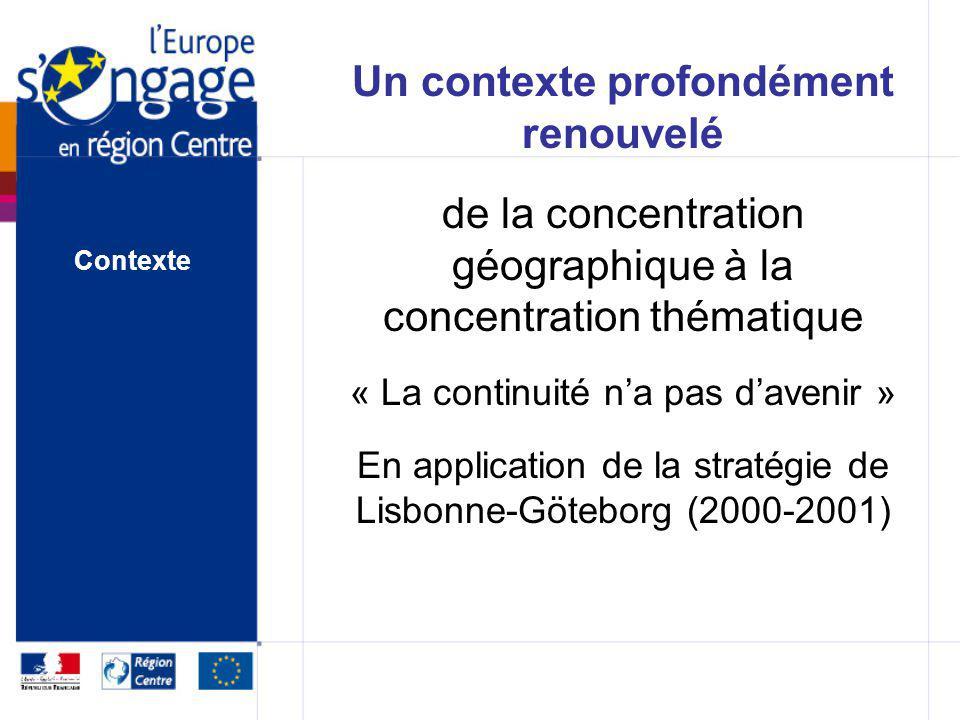 Programme Opérationnel FEDER entre 2007 et 2013, lEurope engage plus de 196 M en faveur de la région Centre Contexte