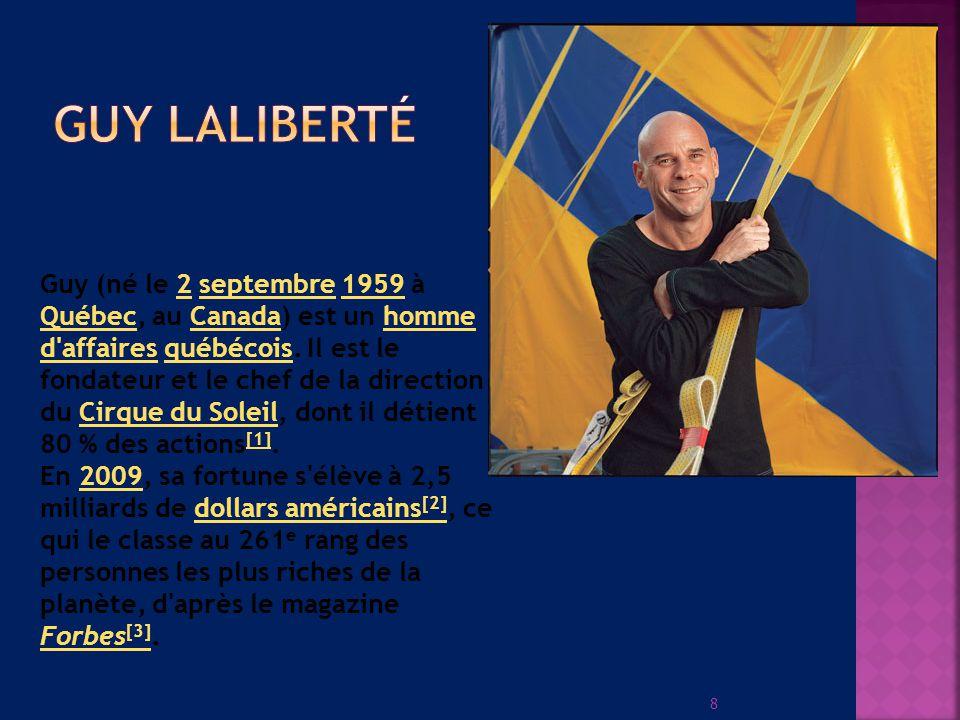 8 Guy (né le 2 septembre 1959 à Québec, au Canada) est un homme d affaires québécois.