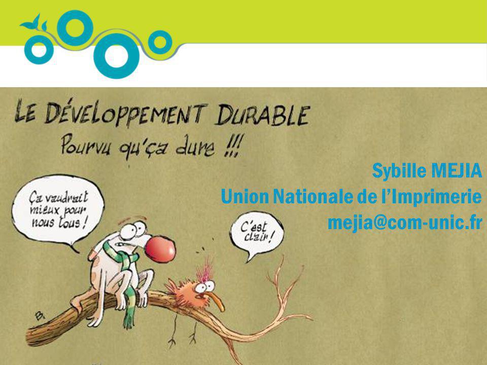 Merci de votre attention Sybille MEJIA Union Nationale de lImprimerie mejia@com-unic.fr