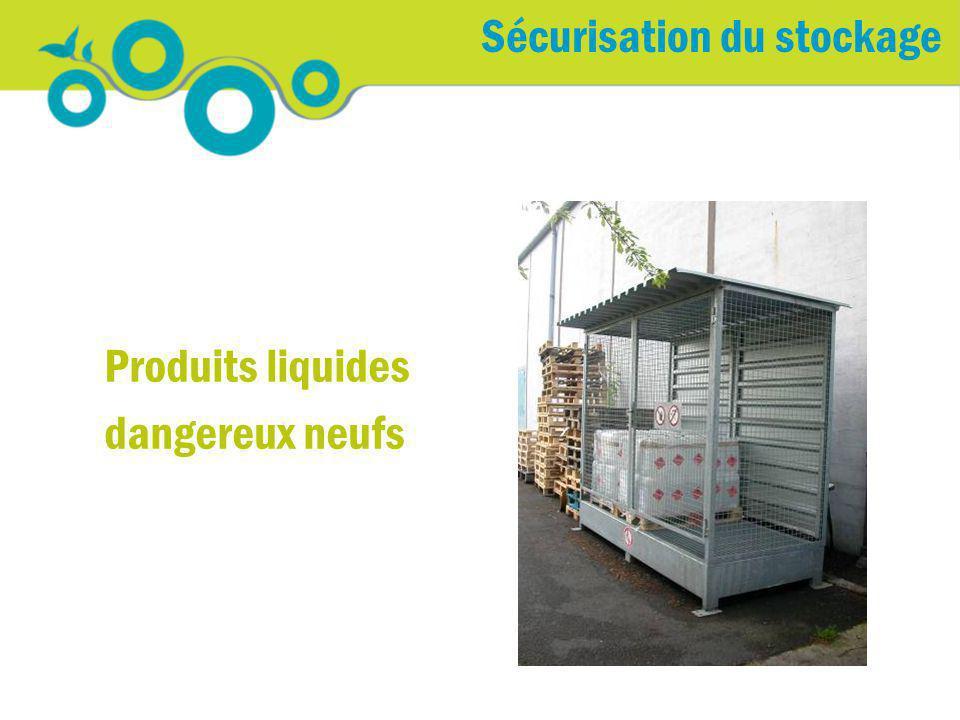Sécurisation du stockage Produits liquides dangereux neufs