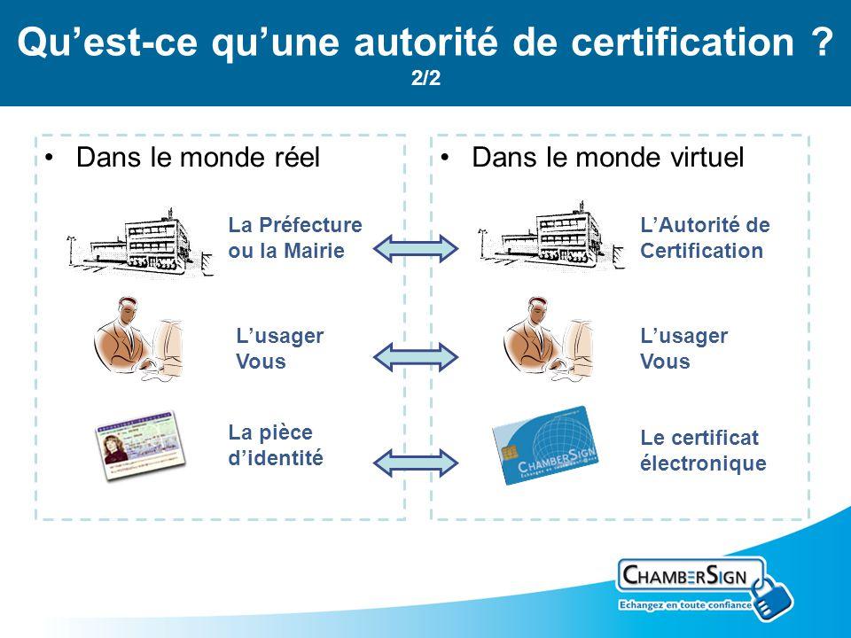 Quest-ce quune autorité de certification .