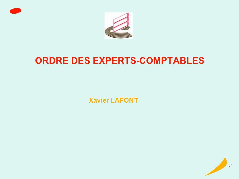 37 ORDRE DES EXPERTS-COMPTABLES Xavier LAFONT
