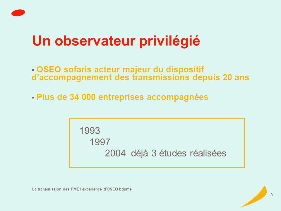 La transmission des PME l expérience d OSEO bdpme 4 Enjeux économiques de la transmission