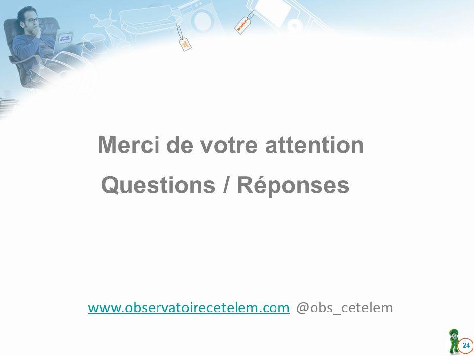 24 Merci de votre attention Questions / Réponses www.observatoirecetelem.comwww.observatoirecetelem.com @obs_cetelem
