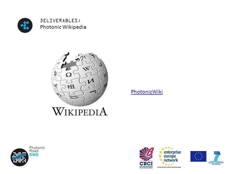 DELIVERABLES: Photonic Wikipedia PhotonicWiki