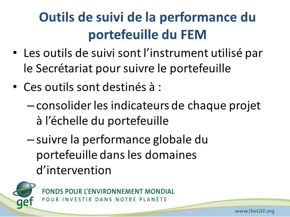 Outils de suivi de la performance du portefeuille du FEM Les outils de suivi sont linstrument utilisé par le Secrétariat pour suivre le portefeuille C