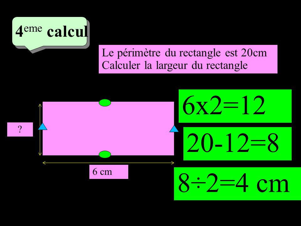 –1–1 4 eme calcul 6 cm .