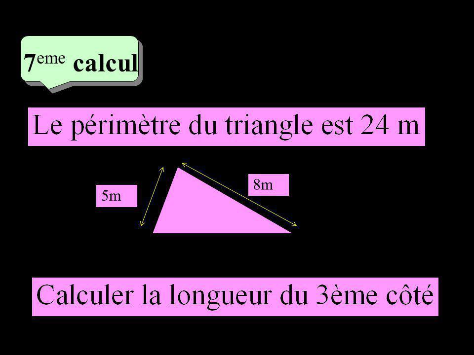 –1–1 4 eme calcul 4 eme calcul 7 eme calcul 5m 8m 24 – 13 = 11 m