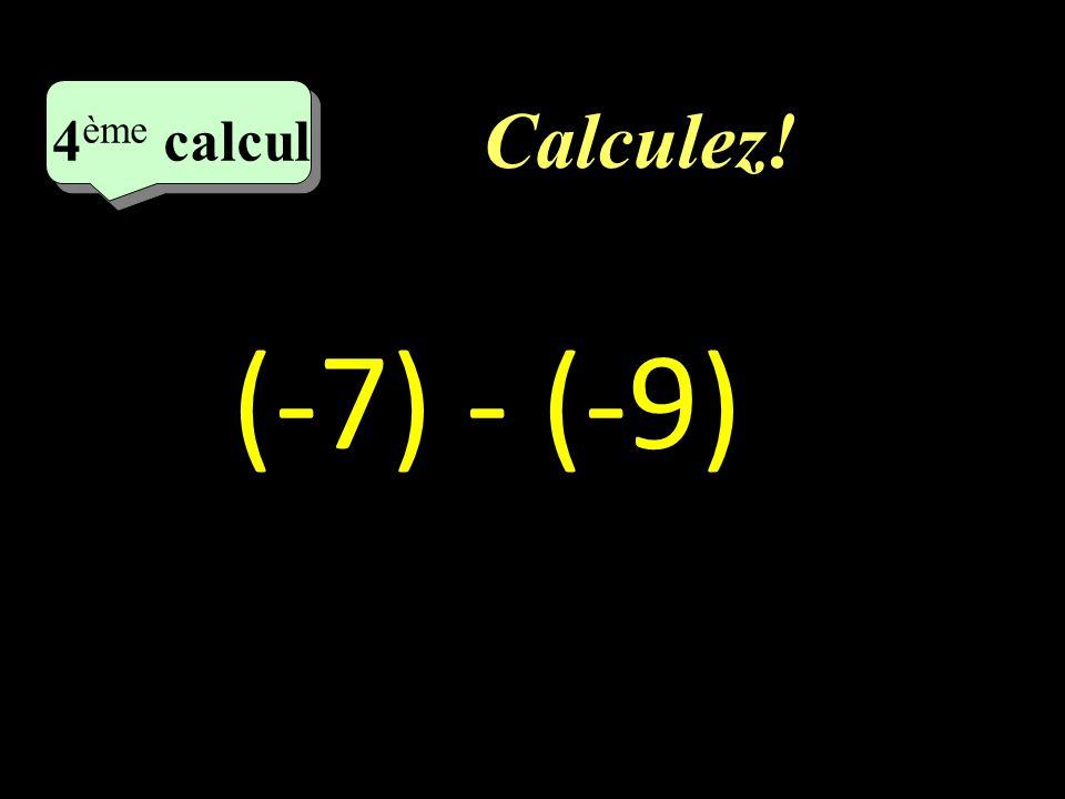 Correction : –1–1 2ème calcul - 14