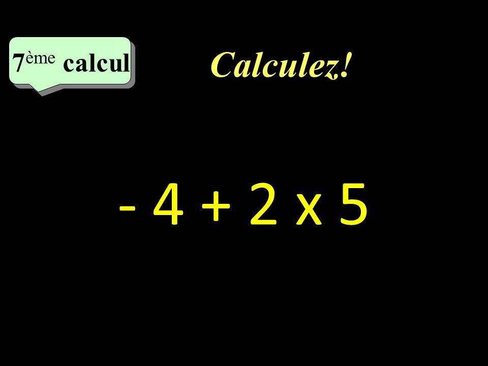 Correction : –1–1 5ème calcul - 17