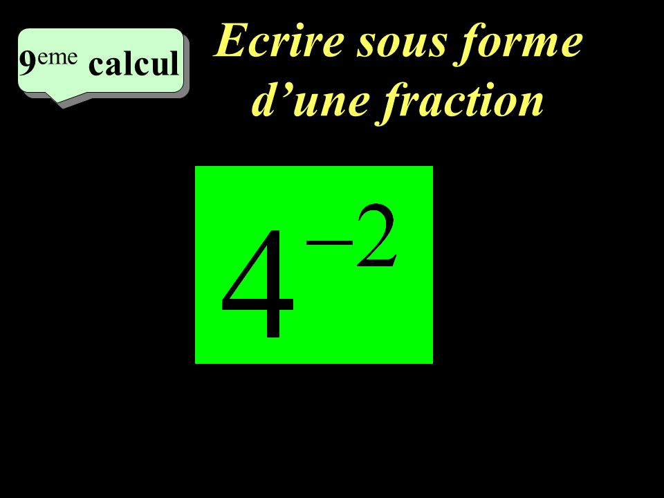 Calculez! 8 eme calcul 8 eme calcul 8 eme calcul