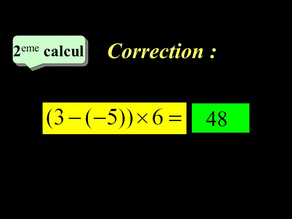 Correction : –1–1 1 er calcul - 29