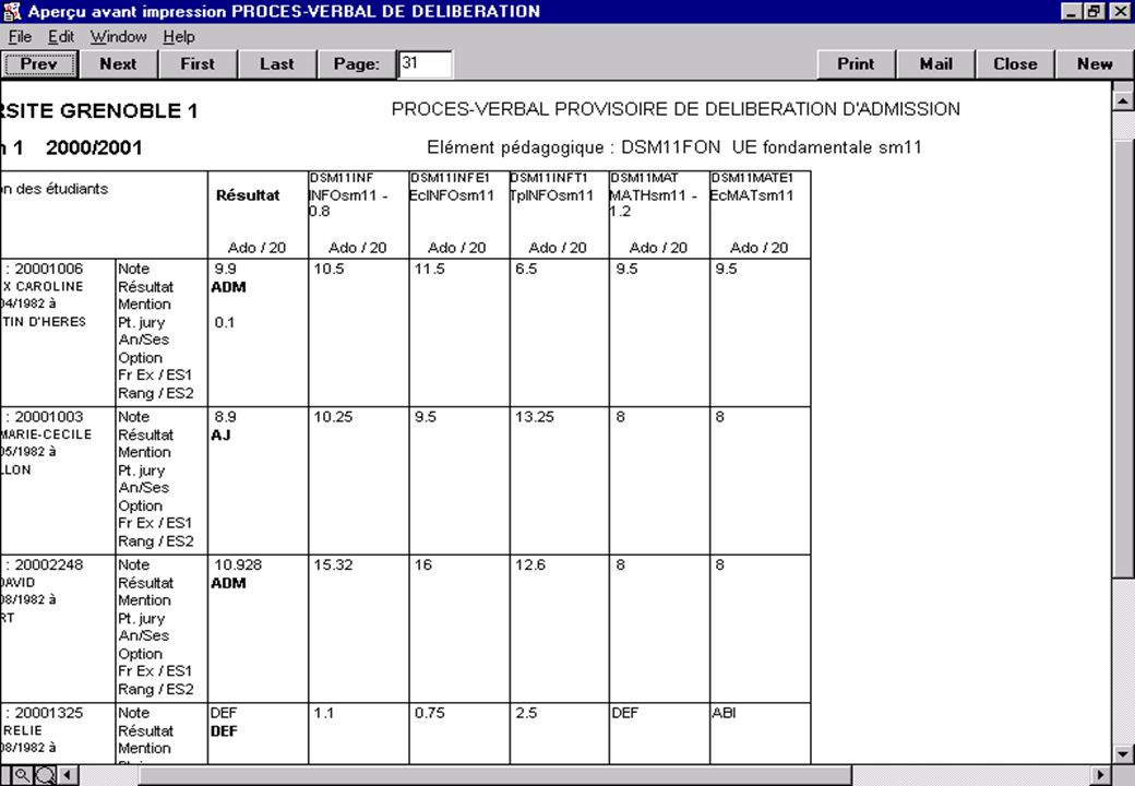 Apogée 79 Exemple de PV de délibération