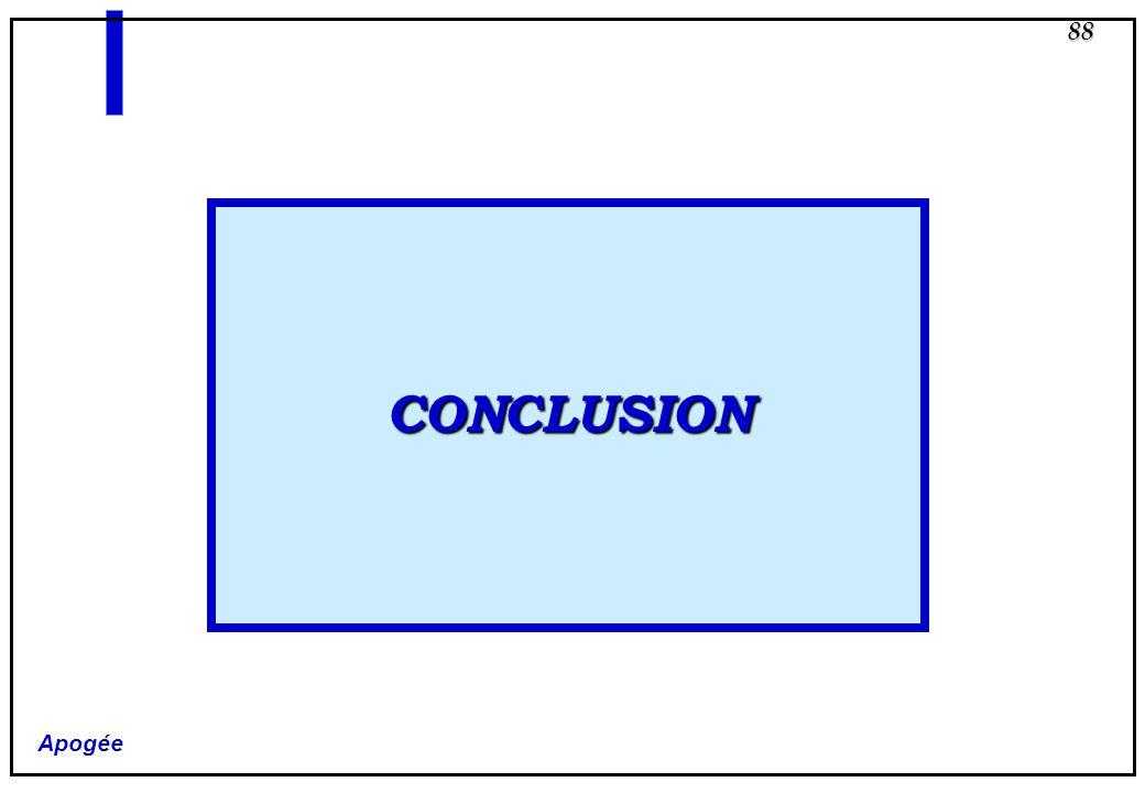 Apogée 88 CONCLUSION