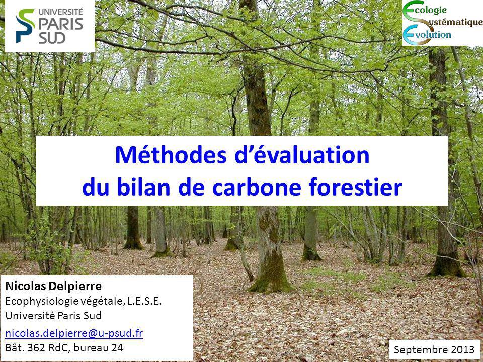 Méthodes dévaluation du bilan de carbone forestier Nicolas Delpierre Ecophysiologie végétale, L.E.S.E.